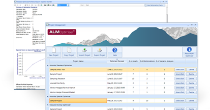 ALM Optimizer Allocation Software